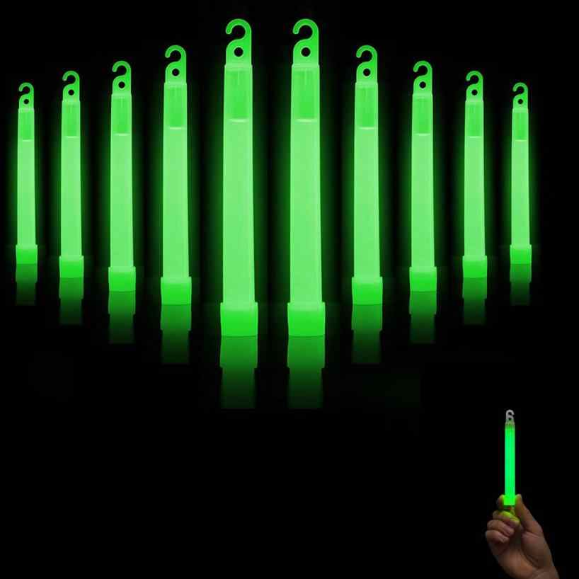 glow sticks 10 Pcs Premium Bright Green glow sticks light decor Fluorescent neon party decorations Hot Gift drop shipping