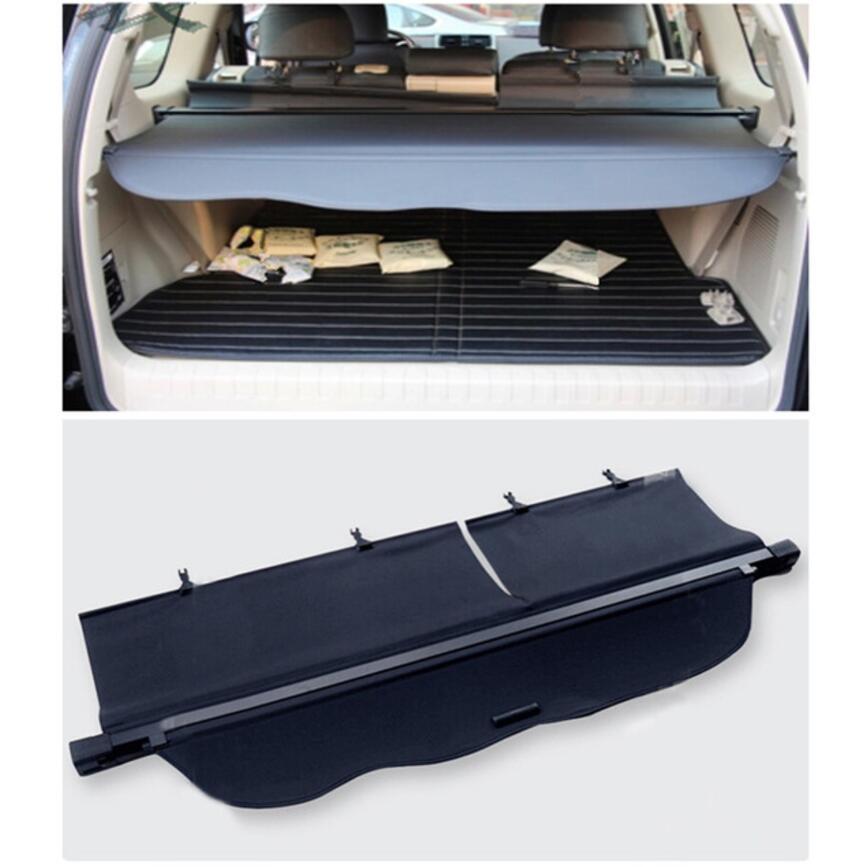 For Toyota Land Cruiser Prado FJ150 2014 2015 2016 2017 2018 Black Rear Cargo Cover Trunk Shade Security Cover 1set car styling все цены
