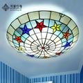 Europeu pastoral varanda corredor corredor quarto corredor levou rodada teto Tiffany lâmpadas de sala de crianças