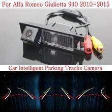 Автомобиль Интеллектуальные Парковка Треки Камеры ДЛЯ Alfa Romeo Giulietta 940 2010 ~ 2015/HD Резервного копирования Камера Заднего Вида/Заднего вида камера
