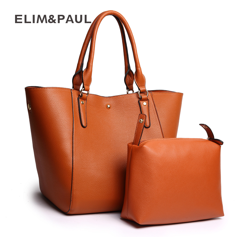 ELIM&PAUL Women Bag Female Fashion Large Capacity Shoulder Bag Women Leather Bags Totes Composite Handbag Sac a Main