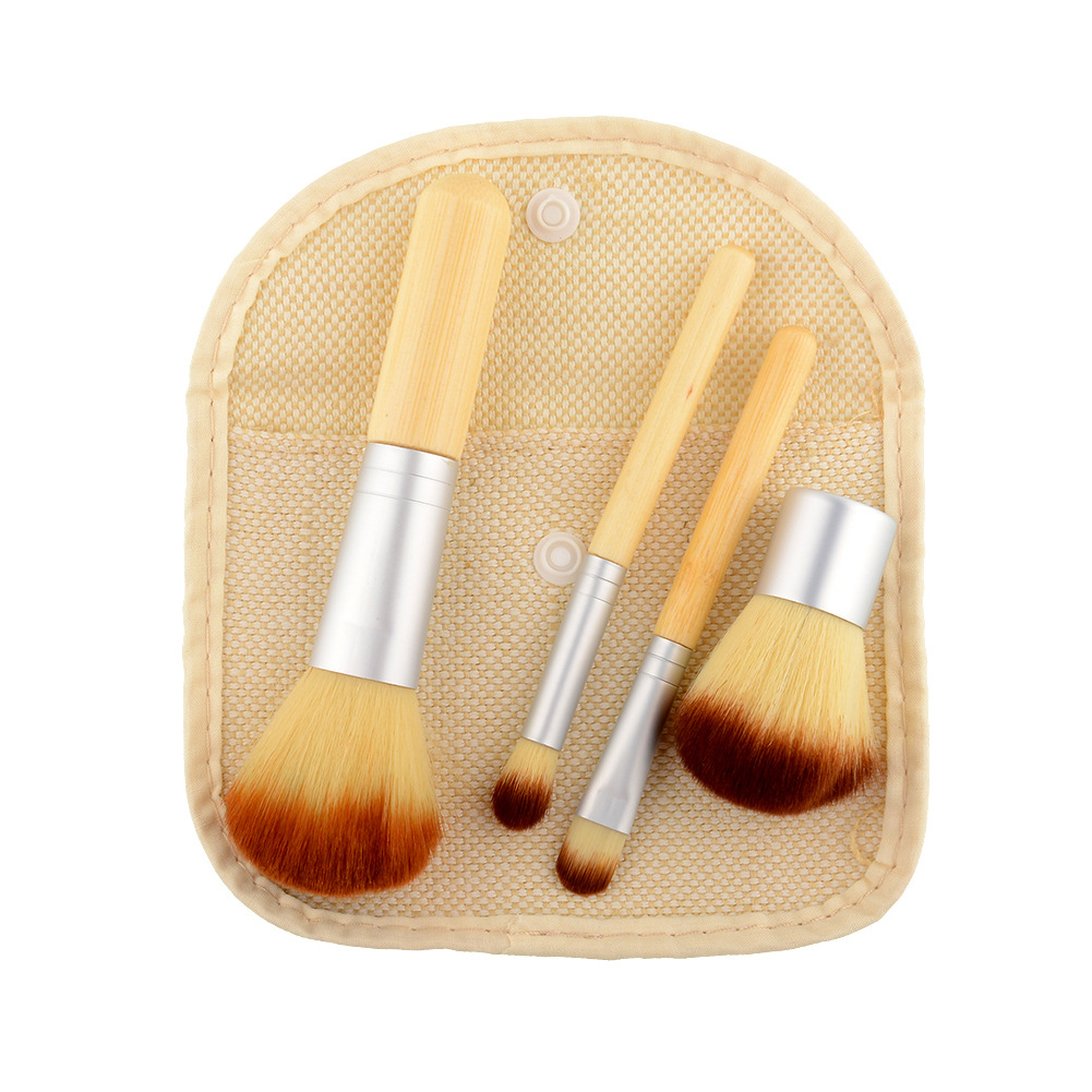 4Pcs Professional Makeup Brushes Brush Powder Foundation Blusher Cosmetic Brushes Pincel Maquiagem Face Make up Brushes bob