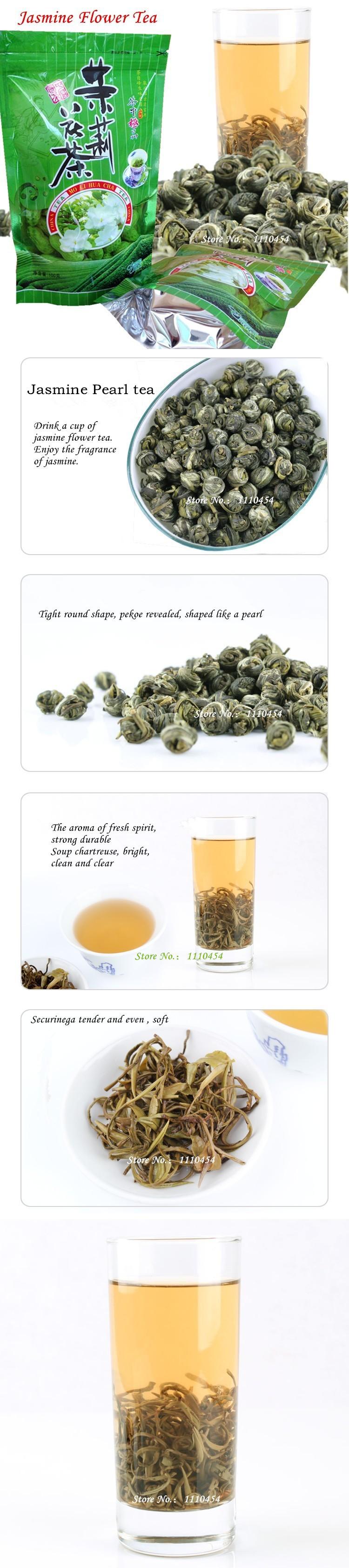 Wholesale High quality Jasmine Flower Tea 100g Premium Jasmine Pearl Chinese Organic Green Tea Hardcover scented tea