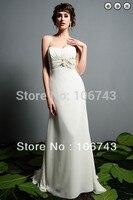 Бесплатная доставка 2014 champange lvory бальные платья свадебное платье свадебные платья formales белые длинные платья плюс размер краткие вечерние пл