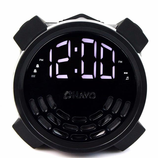 Цифровое Радио FM Двойной Будильник с USB Приемник Зарядное Устройство с Таймером Сна Повтора Несколько Звук Портативный Fm-радио Y4194A