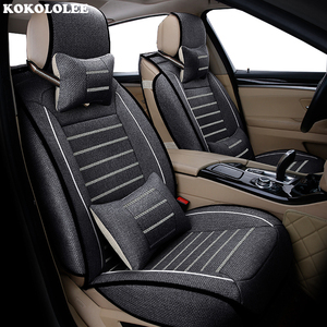 Image 4 - High quality flax car seat covers fit kia Rio 3 4 2017 2018 Sorento 2005 2007 2011 2013 2016 2017 soul spectra car styling