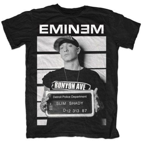 EMINEM SLIM SHADY SHOOTER T-SHIRT WHITE MENS RAP HIP HOP MUSIC TEE