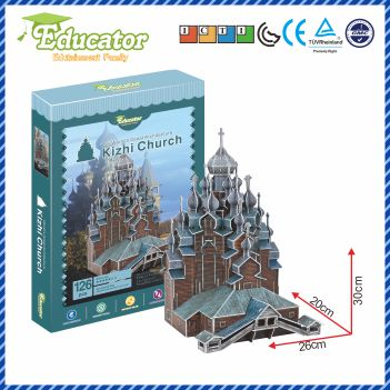 Model Baru 3D Puzzle Educator teka-teki 3D Buliding model Kizhi gereja Rusia DIY model