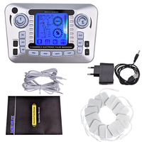 Electric EMS Tens Acupuncture Body Massager Digital Therapy Machine 10 Pads For Back Neck Foot Leg health Care tens machine tool
