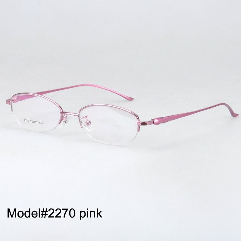 fabcff9e4b8 2270 free shipping women half rim eyeglasses metal myopia eyewear ...