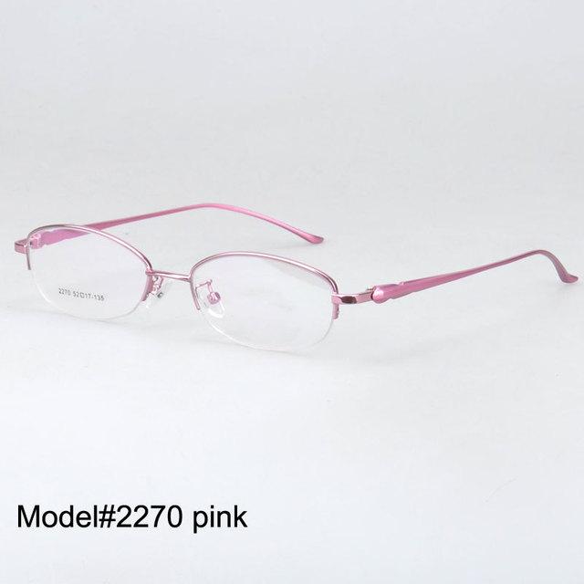 bef2e3478277 2270 free shipping women half rim eyeglasses metal myopia eyewear eyeglasses  RX optical frames