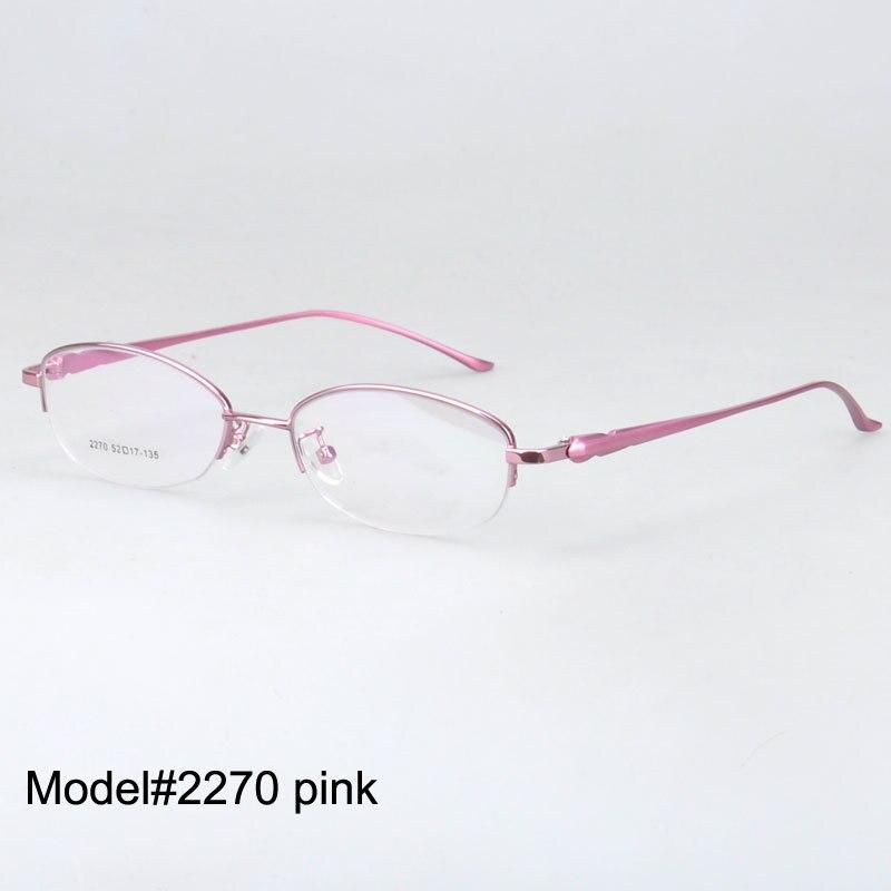 6b736c53f2 ≧Magia Jing 2270 mujeres libres del envío medio borde gafas metal .