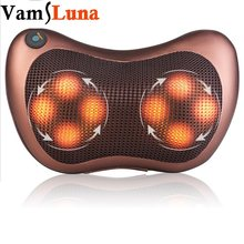VamsLuna Electric Infrared Heating Massage Pillow Shiatsu with Heat For Cervical, Shoulder, Waist, Muscle Pain Relieve(China)