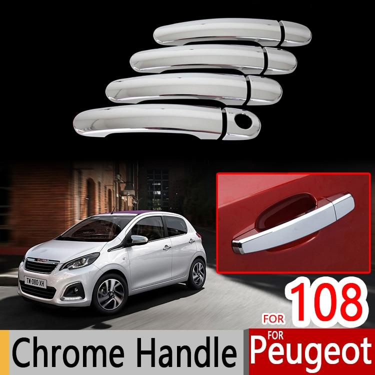 For peugeot 108 accessories chrome trim chromium styling - Car exterior decoration accessories ...