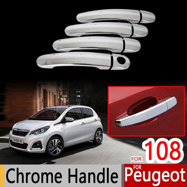 for peugeot 108 accessories chrome trim chromium styling door