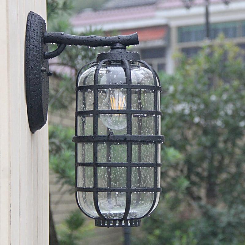 Nouveau led rétro lanter applique murale maison jardin balcon fleur boutique lampes murales vêtements boutique bar escalier couloir étude ZA418636