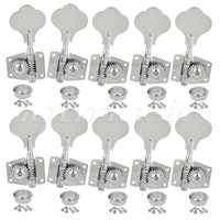 2 sets Kmise Chrome 5 String Bass Tuning Pegs Machine Heads Bass Tuners 8R2L