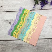 DIY Cards silver Lace Embrossing Curved Wavy Border Metal Cutting Dies Scrapbooking Embossing Paper Card Making