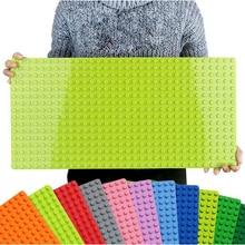 Большой размер опорная плита большая Базовая пластина 404 точек большой кирпич твердая пластина игрушки Совместимость Legos Duploe игрушки для детей Малыш