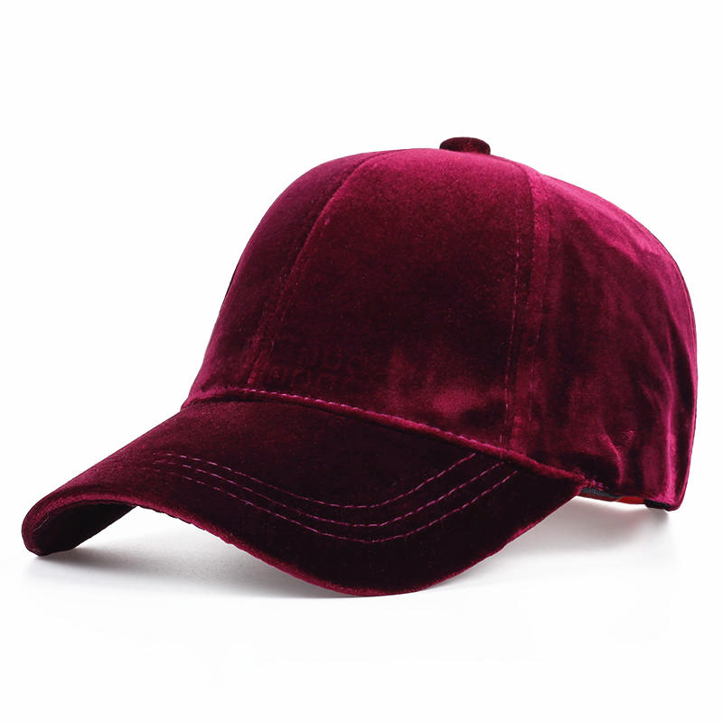 цена на VORON 2017 Women Baseball Velvet Cap Soft Fashion Hats for Men Hip Hop Solid Color Vintage Warm Mens Baseball Caps Spring hat
