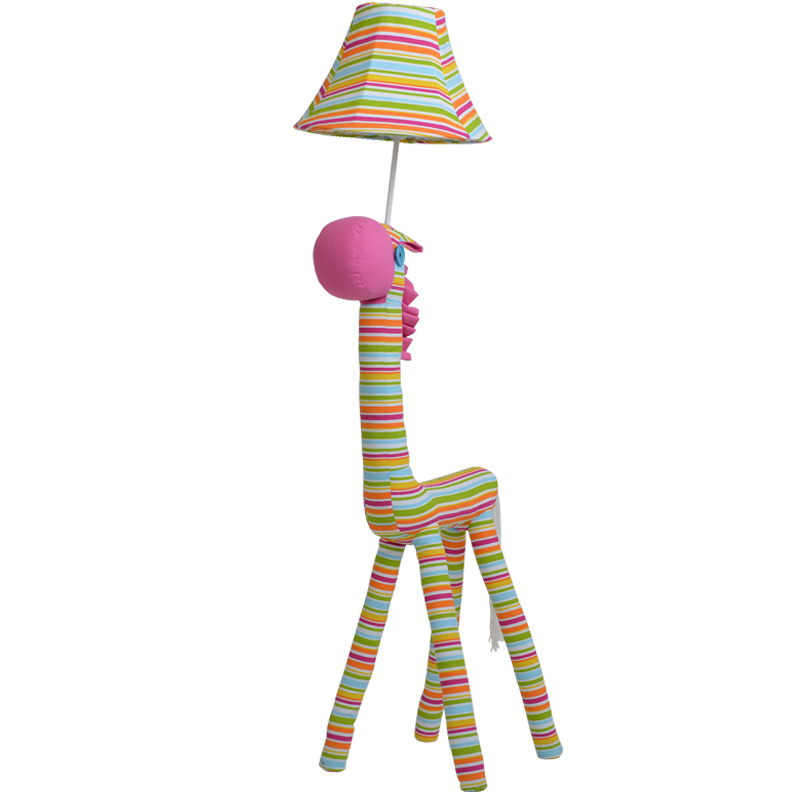 Kids Room Floor Lamp: Creative Lovely Modern Fabric Rainbow Horse Floor Lamp
