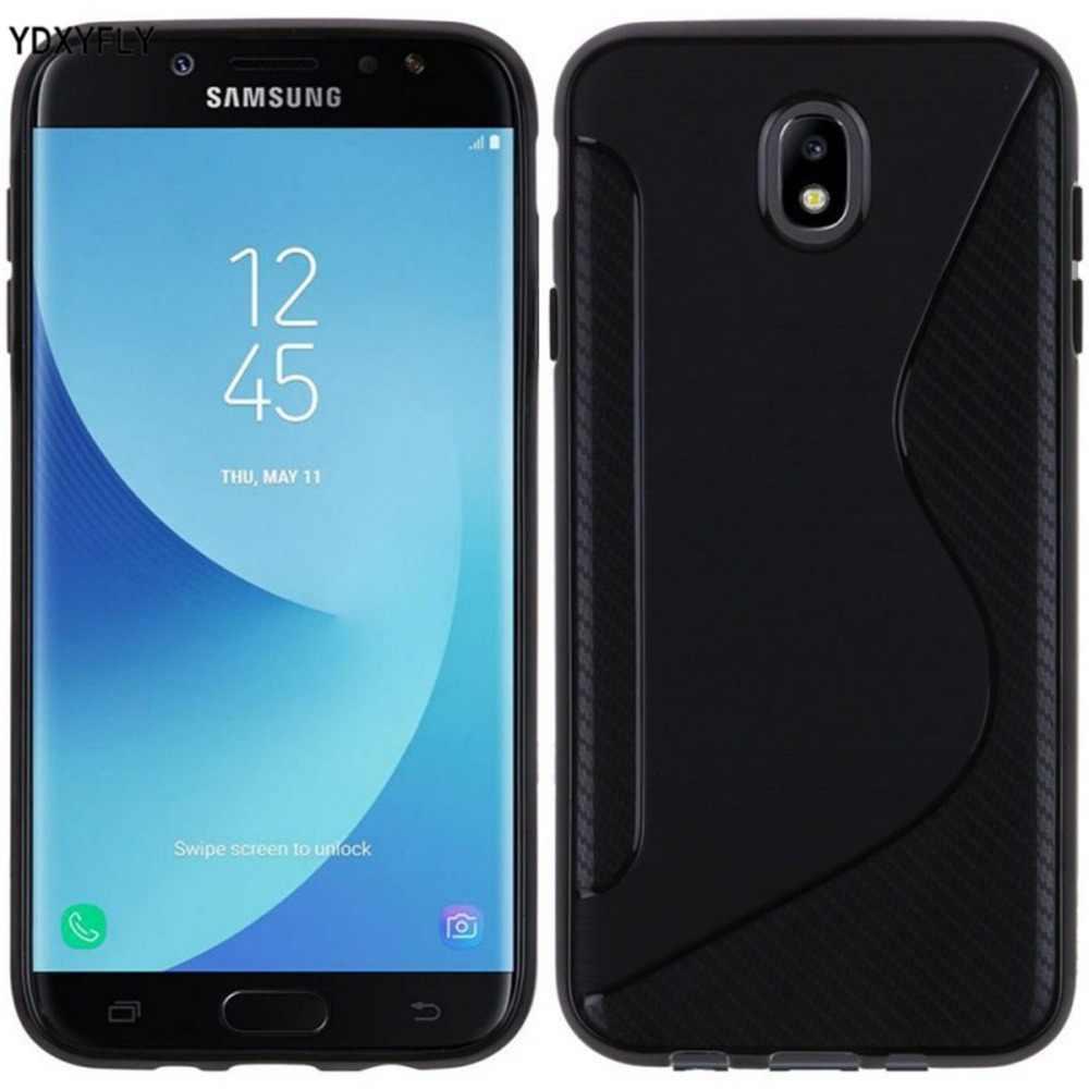 Гибкий чехол для Samsung Galaxy J3 2017 J330 силиконовый чехол из tpu с линией в форме S для Galaxy J5 J7 2017 J530 J730 J7 Pro резиновый матовый чехол