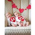 """Regalo de San Valentín de la manera de Algodón de Primavera """"AMOR"""" bebé Mono de Manga Larga Del Bebé Del Mameluco de Los Bebés Ropa Set en El Precio Favorable"""