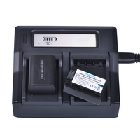 Durapro 1Pcs 1200mAh NP FV50 NPFV50 NP FV50 Rechargeable Camera Battery Dual Quick Charger For SONY
