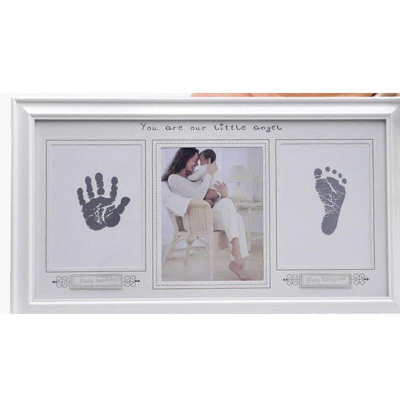 Bébé main et pied impression cadre Photo nouveau-né e Clip papier Photo Photo titulaire suspendu mur rectangle Simple cadre Photo