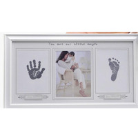 Baby hand and foot print Photo frame newborn e Clip Paper Picture Picture Holder hanging wall rectangle Simple Photo Frame