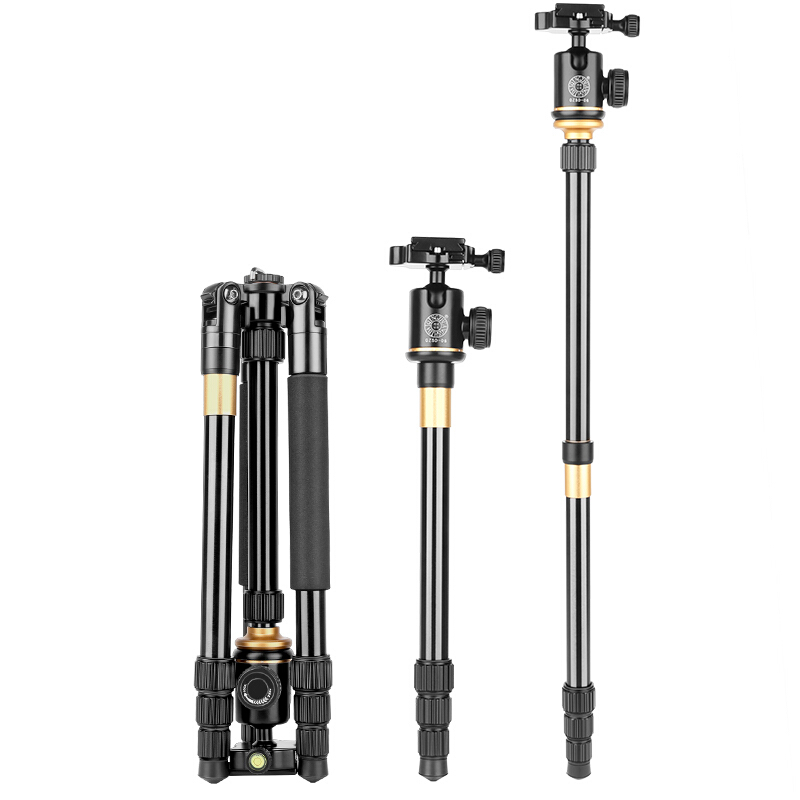 DHL Free Shipping Q999S Kaamera Statiivile Aluminum Digital Camera Tripod Better Than Q666 Q999 Fit For Camcorder Folded 360mm