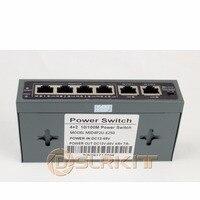 DSLRKIT 250 M 6 Porte 4 Switch PoE Injector Power Over Ethernet SENZA Adattatore di Alimentazione-in Trasmissione e cavi da Sicurezza e protezione su