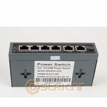 DSLRKIT 250M 6 Porte 4 Switch PoE Injector Power Over Ethernet SENZA Adattatore di Alimentazioneadapter ethernetadapter poweradapter poe injector