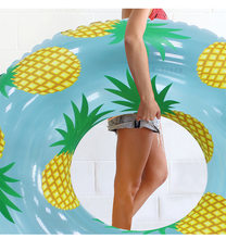 105cm Inflatable pineapple Swimming Ring Giant Pool Float Mattress Swimming Circle Adult Beach Summer Water Party inflatable Toy(China)
