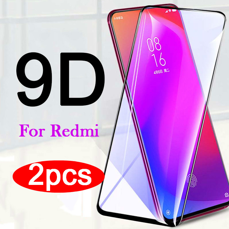 2pcs 9D Full Cover protective tempered glass for Xiaomi Mi 9T pro A2 Lite Redmi K20 Note 9 8 7 6 5 Pro 7A 6A Note9S Note8T glass(China)