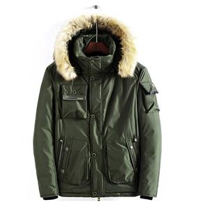 Image 4 - Mwxsd brand Men winter warm hooded jacket and coat mens fur thick military zipper parkas warm overcoat jacket