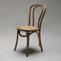 Твердой древесины обеденный стул Американский Стиль ретро Творческий стул Nordic минималистский отель кафетерий дизайнер стул