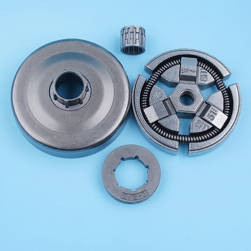3 8inch Clutch Drum Bell Rim Sprocket Bearing Kit For Husqvarna 262 261 262XP Chainsaw 503577101 503657801 Replacement Parts