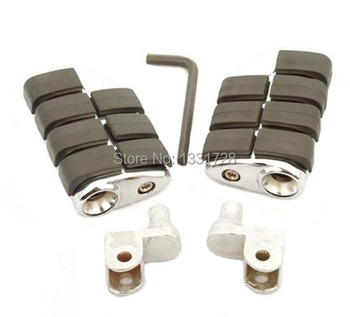 Chrome Wing Foot Pegs Rests For 1988-2000 Honda GoldWing GL1500 (Front)
