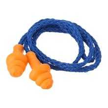 10 pairs柔らかいシリコーンコード付き耳プラグ再利用可能な聴覚保護ノイズリダクション耳栓保護イヤーマフ