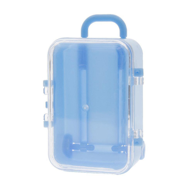 1pcs Hand Held Rolling Pull Lever Travel Suitcase Shape Wedding Party Candy Storage  Boxes Great
