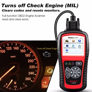 Image 5 - Autel AutoLink AL519 automatyczne narzędzie diagnostyczne skaner kod błędu samochodu czytnik OBD2 CAN Code czytnik Upgrade wersja MS509