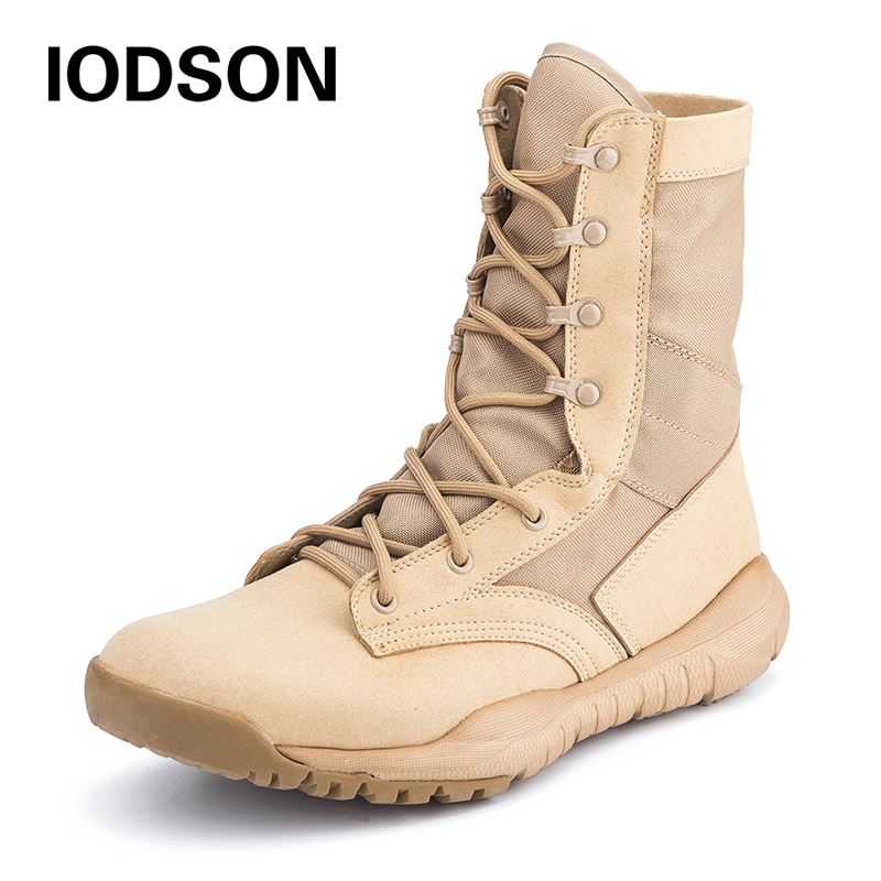 c217ad3d971 Brands New Breathable Combat Ankle Boots Men s Desert Military Tactical  Boots Shoes Outdoor Army Boots Snow Boots Plus Size35-48