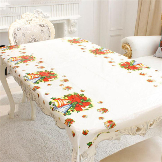 Charmant New Year Home Kitchen Dining Table Decorations Christmas Tablecloth  Rectangular Linens Party Table Covers Christmas Ornaments