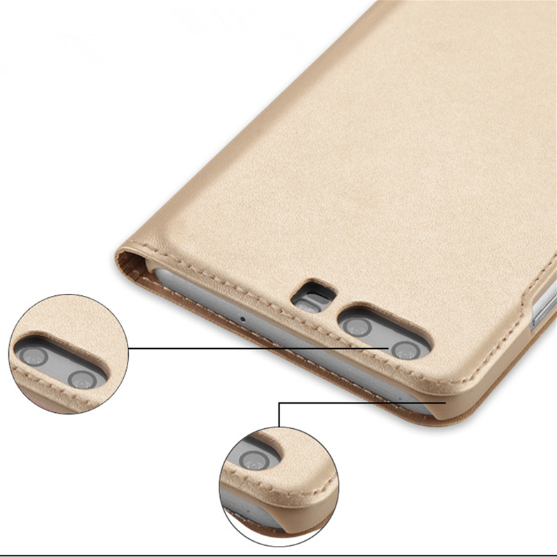 Luxury PU Leather Filp Stand Cover For Huawei Honor 9 V10 Case Shockproof Smart Flip Case For Huawei Honor V10 9 Leather Case in Flip Cases from Cellphones Telecommunications