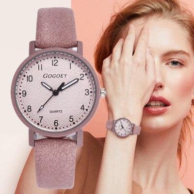 Gogoey Women's Watches Luxury Leather Ladies Watch 2019 Fashion Wristwatch Women Bracelet Watches Clock Relogio Feminino Saat