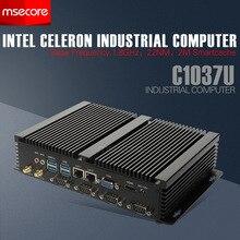 Intel Mini PC Windows 10 Настольный Компьютер Промышленного NUC Celeron C1037U Безвентиляторный HTPC Nettop barebone системы HD Графика Wi-Fi