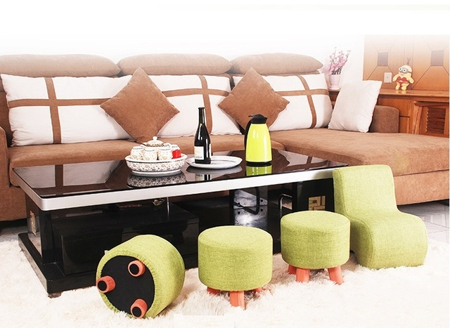 Green Color Bar Stool Children Change Shoes Study Chair Cafe House Living  Room Chair Stool Home