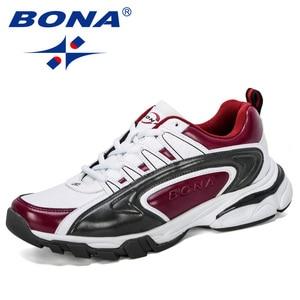 Image 2 - BONA 2019 ออกแบบใหม่ผู้ชายรองเท้าวิ่งกีฬารองเท้ากลางแจ้งรองเท้าผ้าใบ Trainers Zapatos De Hombre รองเท้าชาย
