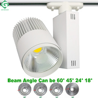 Fast Free Shipping 10pcs Lot LED Track Light 30W COB Bridgelux Chip From USA Equal To